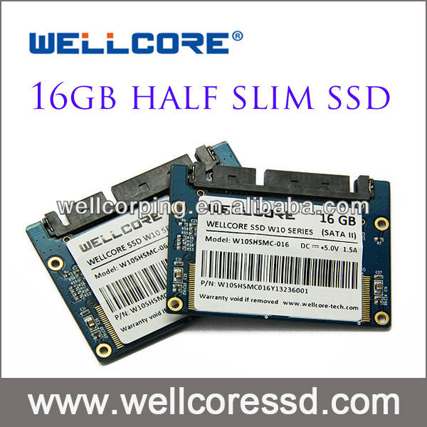 Wellcore 16gb Half Slim SSD with SLC flash are provided now