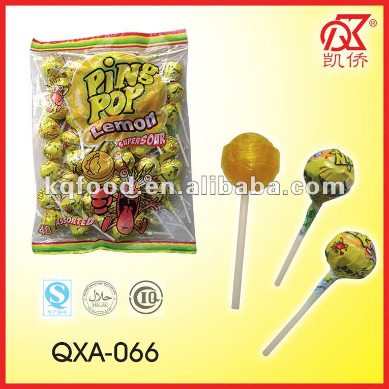 21g Sour Bubble Gum Pin Pop Lollipops Sweets