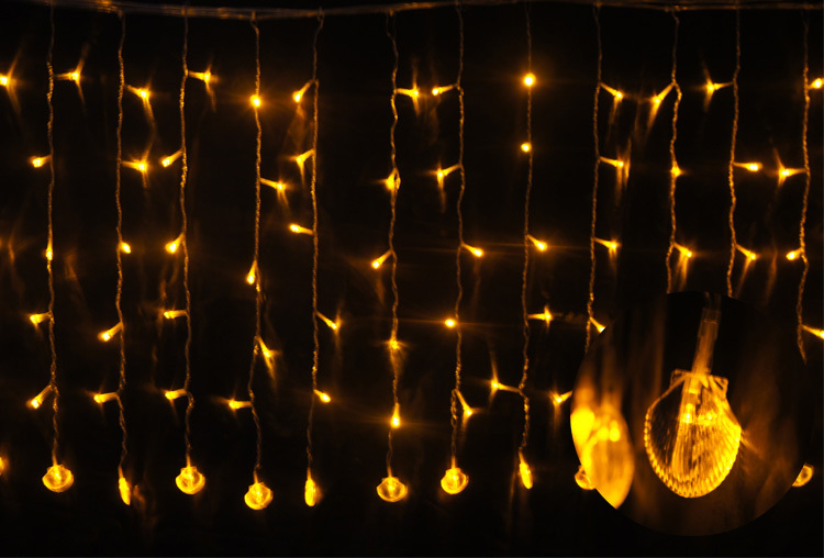 Factory wholesale Twinkling stars curtain icicle light IP44 waterproof outdoor Christmas