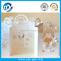 English 3d wedding invitation card & laser cut wedding invitation card