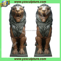 garden a pair brass lion statues for sale