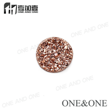 2017 Hot Sale Natural Agate Druzy Stone Round 6mm Drusy Bead Rose Gold Agate Stone High Quality
