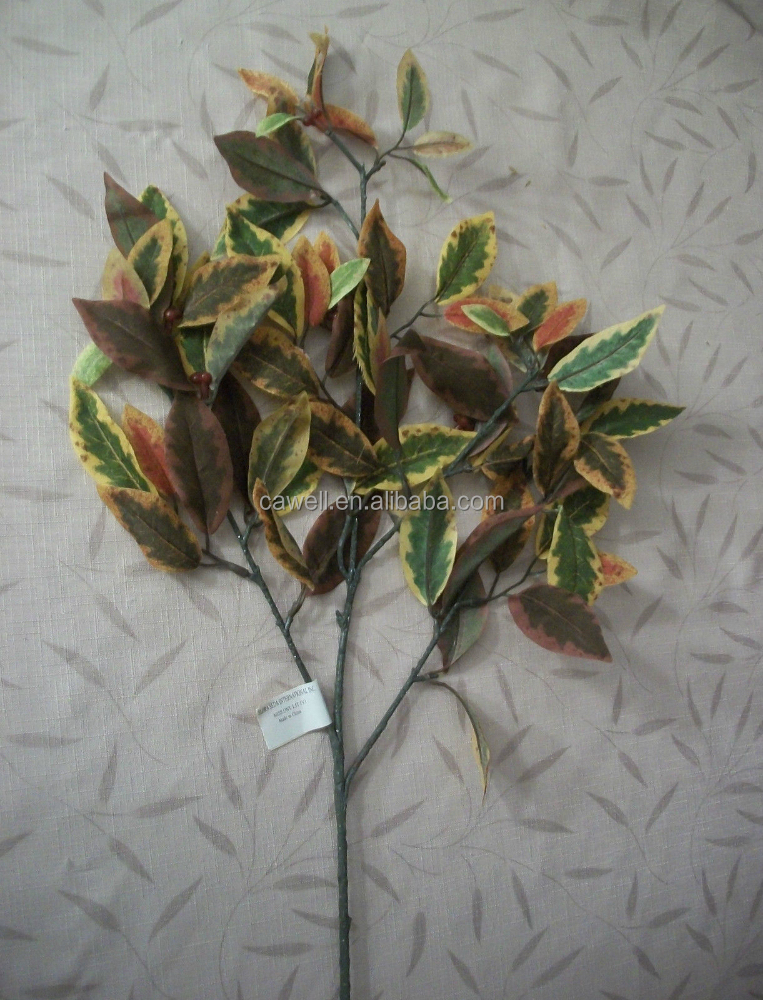 "27"" Artificial Autumn Leaf Spray with Red Berries Fall Floral Decor"