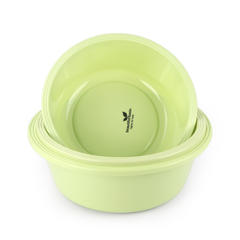 Durable Colorful Round Plastic Basin for Bathroom &Kitchen