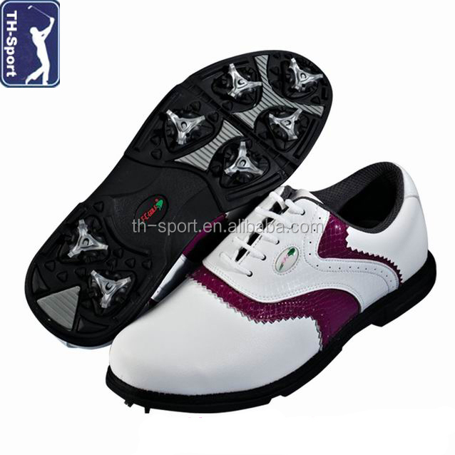 Fashion design OEM PVC sole golf shoes ladies