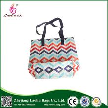Top sale different types eco handle shopping bag printed tote bag