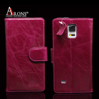 Rose red genuine leather phone case for samsung galaxy note 4 case