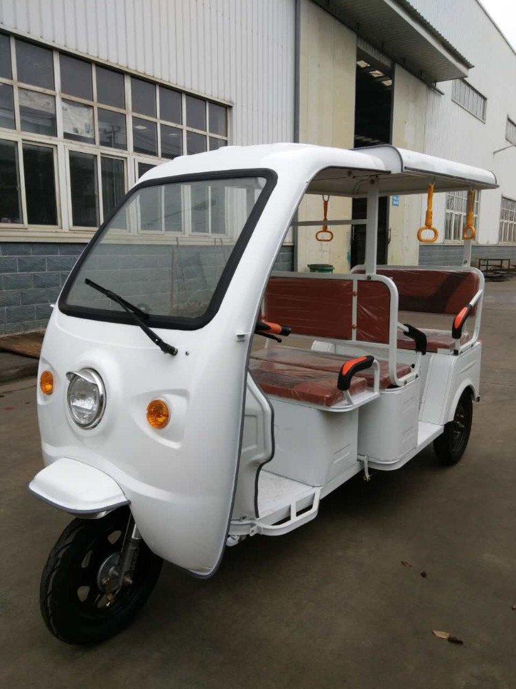 COC/CE 4 Seat electric motor tricycle rickshaw for 6 passengers