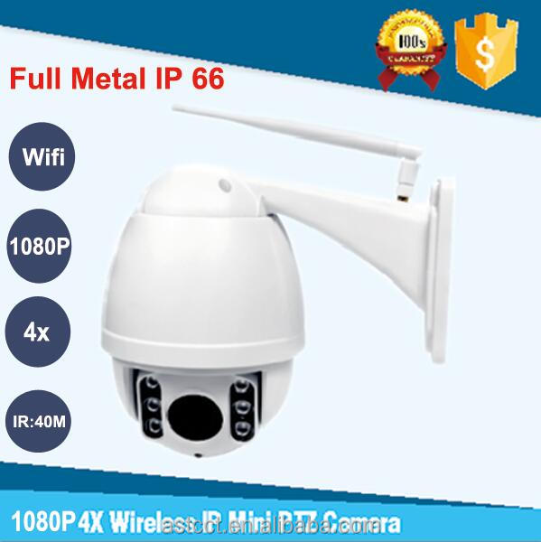 Wireless Outdoor ptz ip Camera 4x zoom 1080P HD P2P LOW LUX Mini wifi PTZ Security CCTV Camera