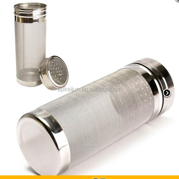 stainless steel 304 perforated barbecue pellet welded tube for filtering and smoking