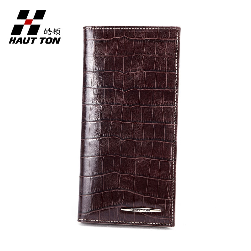 Men's luxury crocodile leather long pocket wholesale