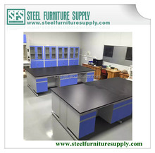 Professional Lab Furniture Manufacture, wooden lab bench with reagent shelf