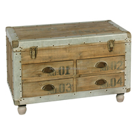 Trunk Style Low Chest Of Drawers