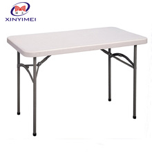 cheap outdoor plastic folding square 4 seat table