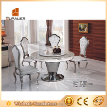 Round table design stainless steel table for dining room furniture