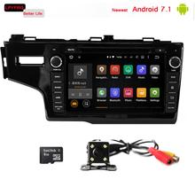 2 din android 7.1 in dash car dvd multimedia player for honda Fit 2014 with gps navi OBD2 TPMS DVR DAB+ BT