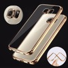 NEW case for SAMSUNG GALAXY S7 S7 EDGE PHONE SILICONE SOFT GEL CASE COVER WITH electroplate bumper