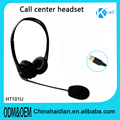High Quality & Brand New HT101R Call Center Corded Operator Telephone Headset High Quality Headphones with Microphone