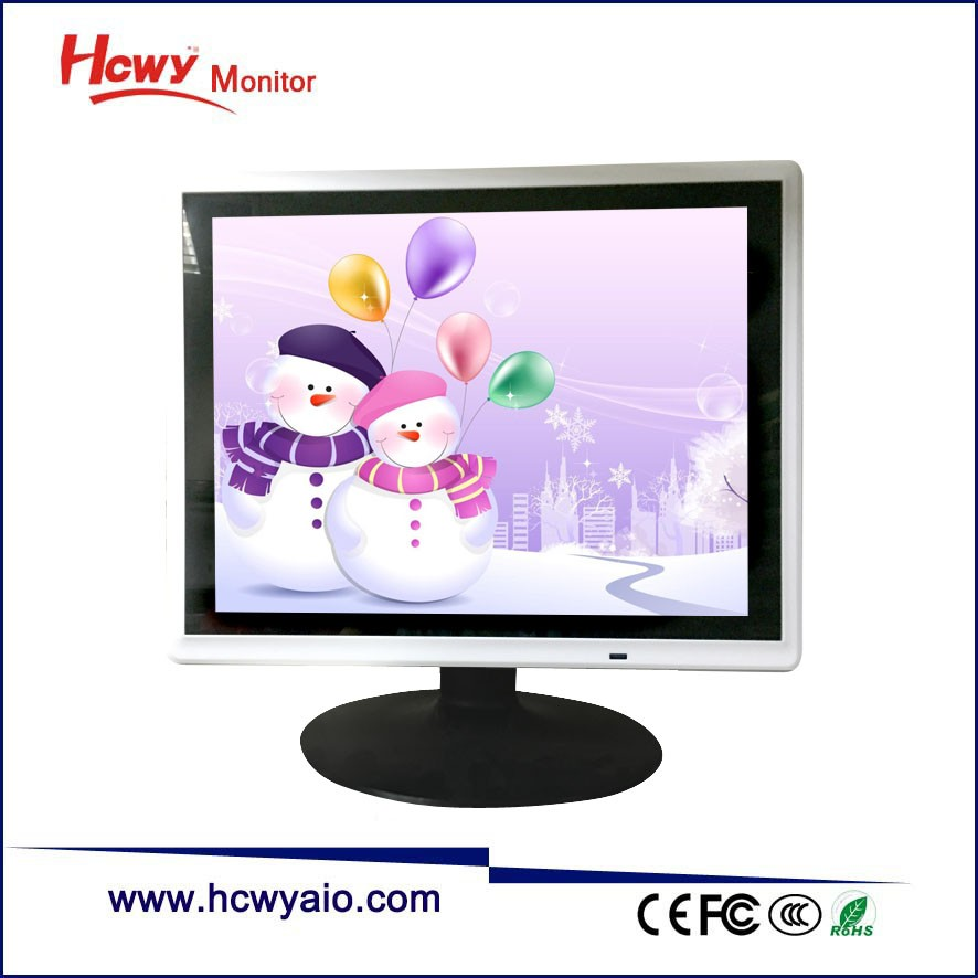 Desktop/Wall Mount Square 17 inch TFT LCD Flat Screen Monitor