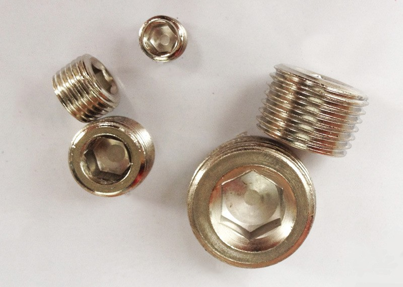 Brass male thread hex end cap plug buy female threaded