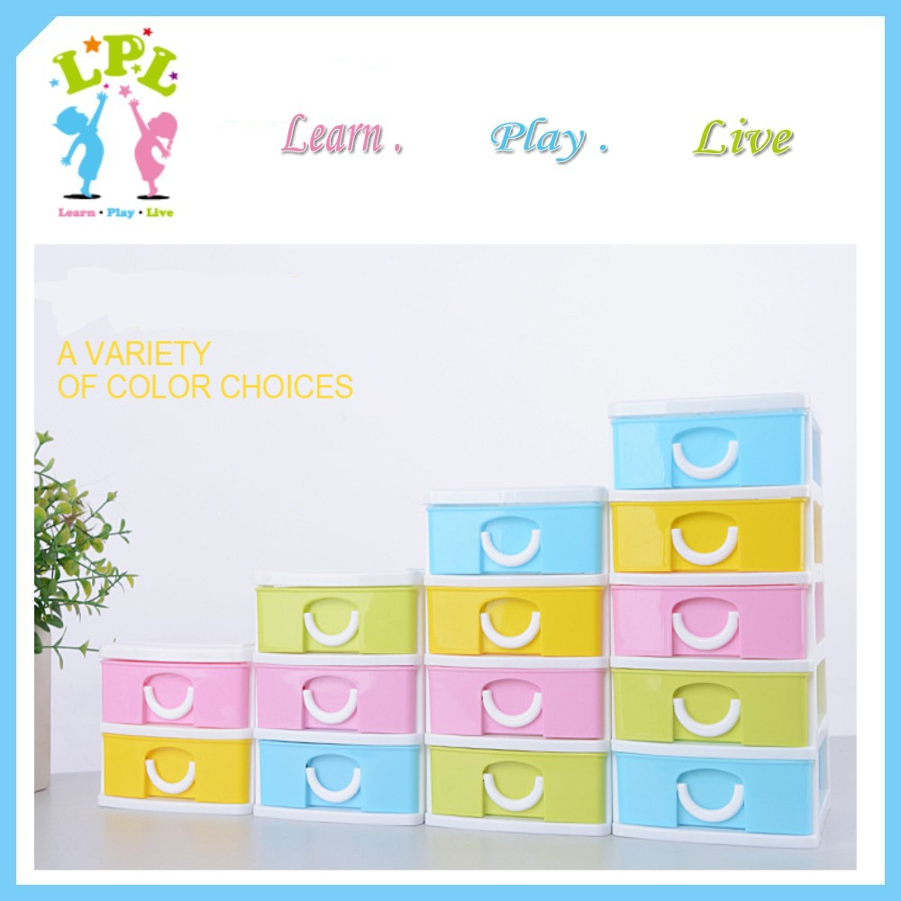 Factory 2-5 layers office home desk organizer coloful mini plastic storage drawer
