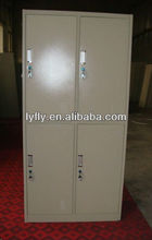 4 compartment metal locker