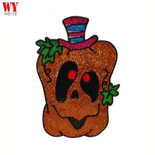 2017 New Design Halloween Party Funny Pumpkin Lantern Window Sticker decoration