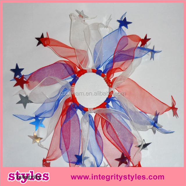 Rainbow color lovely design elastic hair band for baby Fashion hair band with star decoration for girls