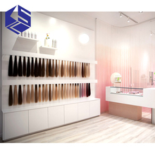 Wooden hair salon extension color storage display rack and <strong>shelf</strong>