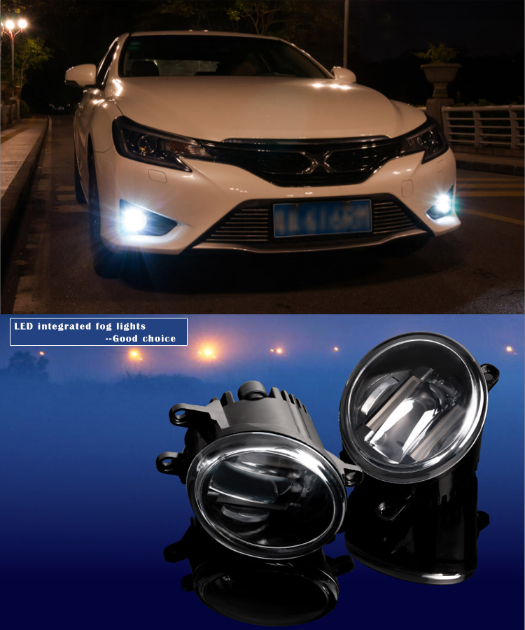 New products auto parts DRL led fog light with DRL daytime running light