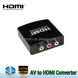 AV To HDMI Converter full HD 1080P support PAL/NTSC with 3.5mm audio
