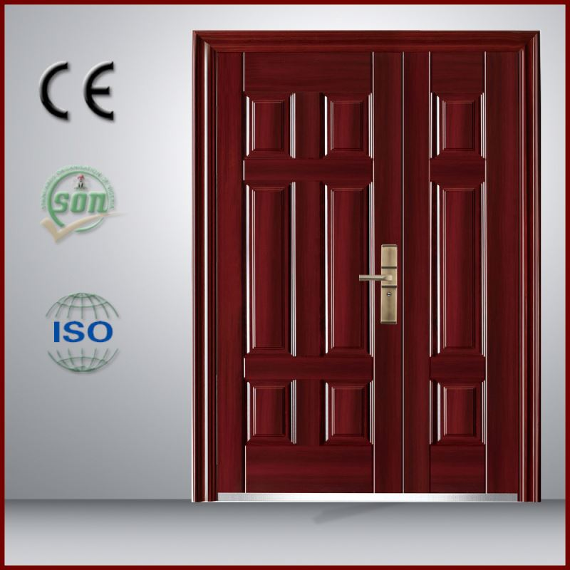 Popular hot sale in Myanmar single steel door with sun protection from China supplier
