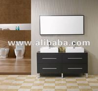 "Arcca 60"" Double Sink Modern Bathroom Vanity"