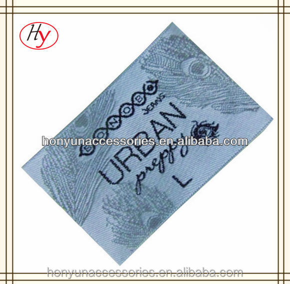 Personalized High Density Fashion Custom Clothing Tag China Supplier