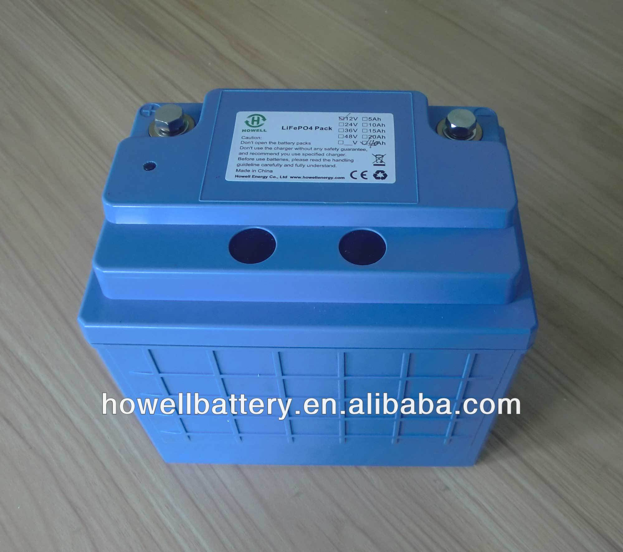 small 12 volt battery Lifepo4 rechargeable 12v 40ah lithium battery