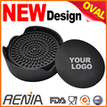 RENJIA custom Logo bar tea wine cup mat blank drink coasters with holder silicone coaster