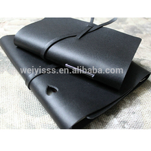 Black Loose Leaf Custom Soft Leather Personal Diary Cover