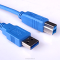 High quality cost-effective USB 3.0 A Male to B Male Printer Cable Blue or Black Jacket