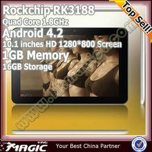 First 10.1 inch rk3188 quad core android tablet
