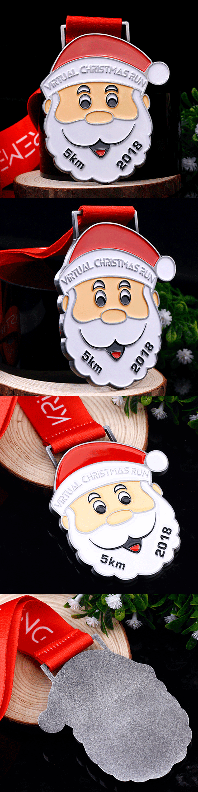 Custom Christmas 5km half marathon running sports medal