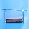 Clear Vinyl Zippered Cosmetic Bag Carry Case Travel Makeup