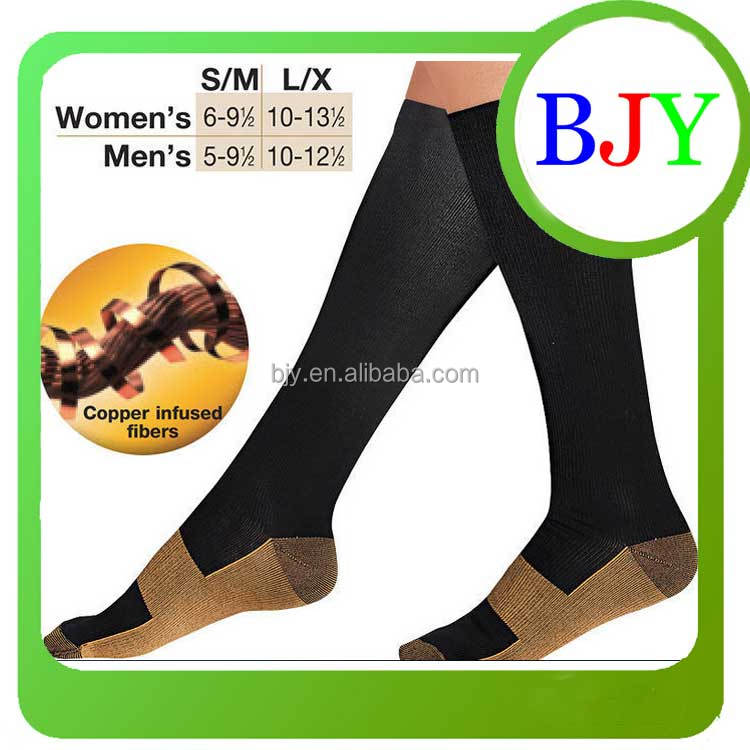 Comfortable Relief Soft Copper Anti-Fatigue Compression Socks