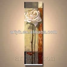 High quality white rose oil painting on canvas