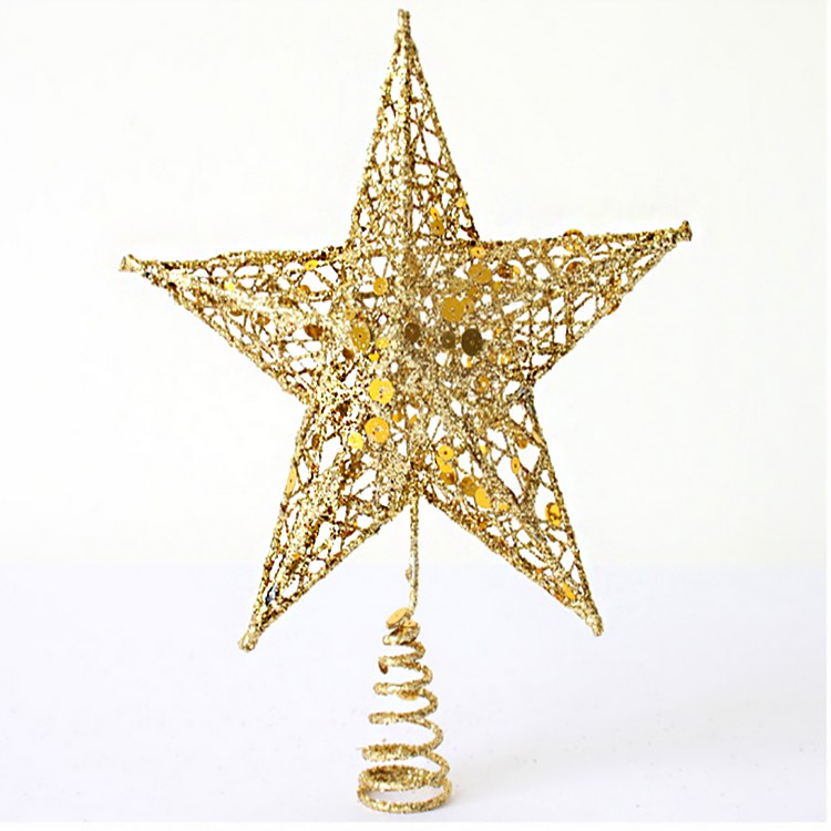 Christmas tree top glitter star for Christmas decoration