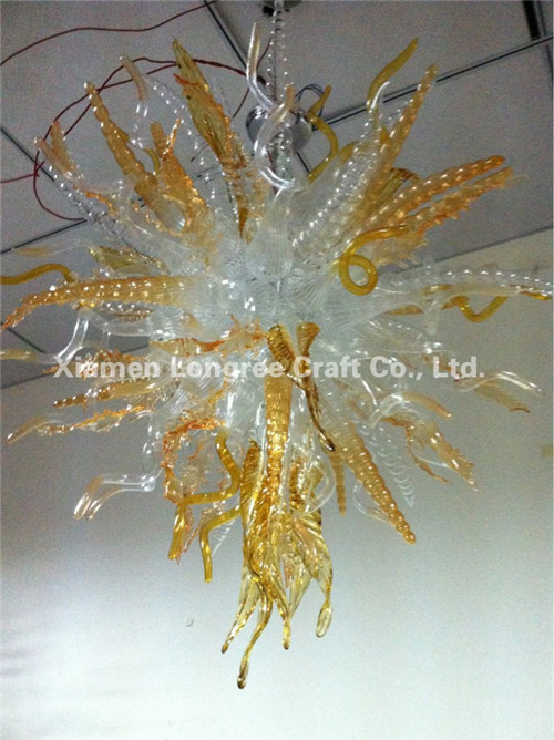 New Arrival Hand Made Glass Chain Chandelier Modern LED Light