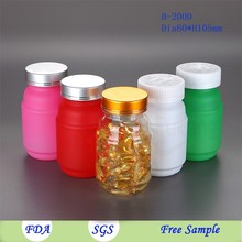 200cc high quality frosted PET plastic vitamins bottle,health food packaging plastic container
