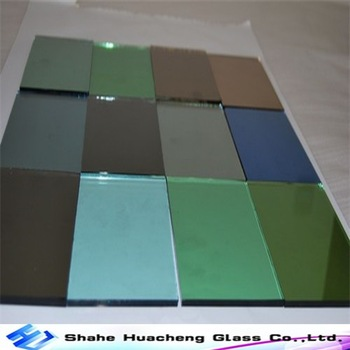 High Quality 3mm-6mm Gold blue sheet class bronze grey green Reflective Glass reflective glass sheets with suitable price