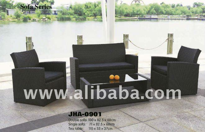Dismantable wicker rattan sofa