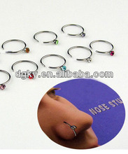 Body piercing jewelry 16 gauge nose rings