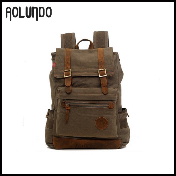 Wholesale Large Canvas Students Vintage Backpack